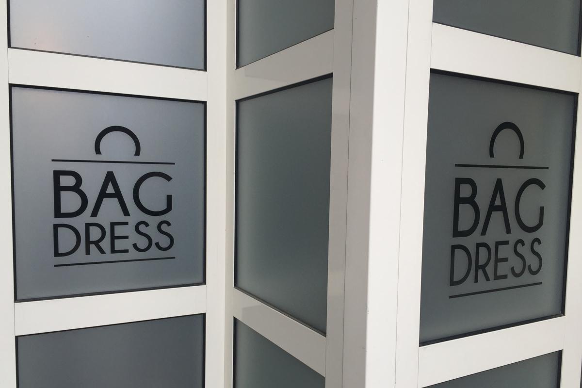 3m film sablé Crystal Bag Dress - PubAdhésive