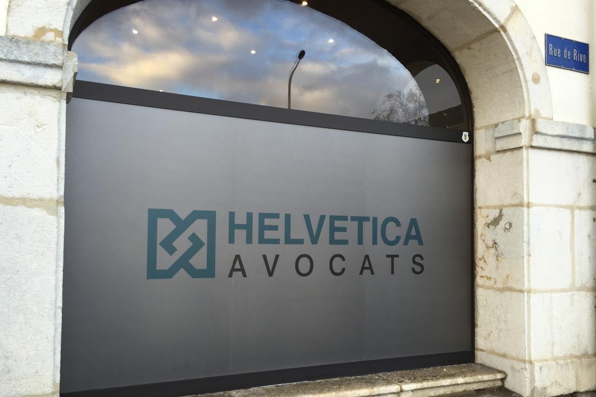 3m film sablé Crystal Helvetica Avocats - PubAdhésive